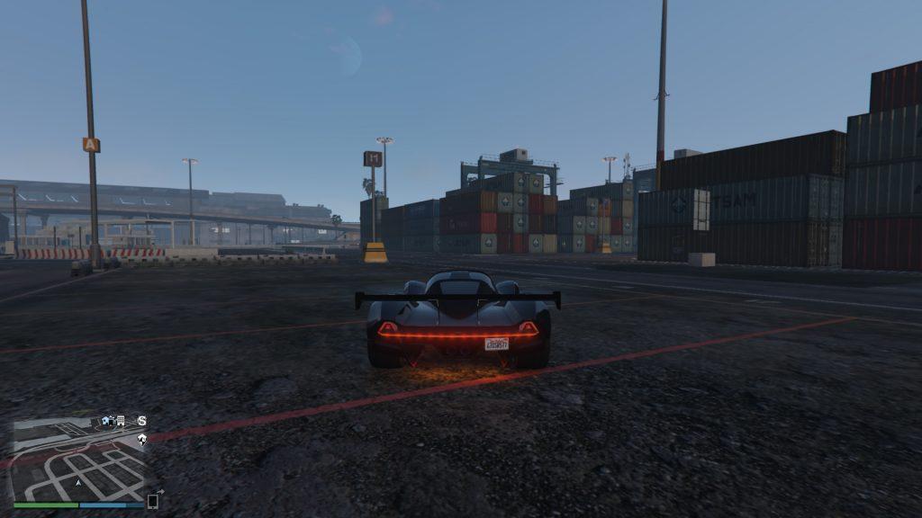 GTA Online Zeitrennen Start Rote Container
