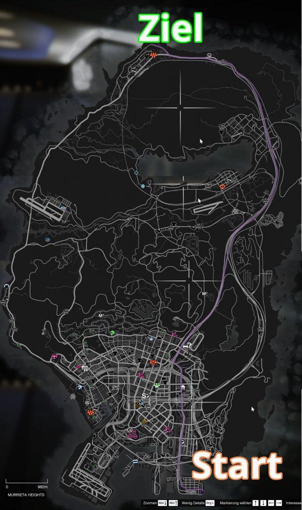 GTA Online von einem Ende Strecke