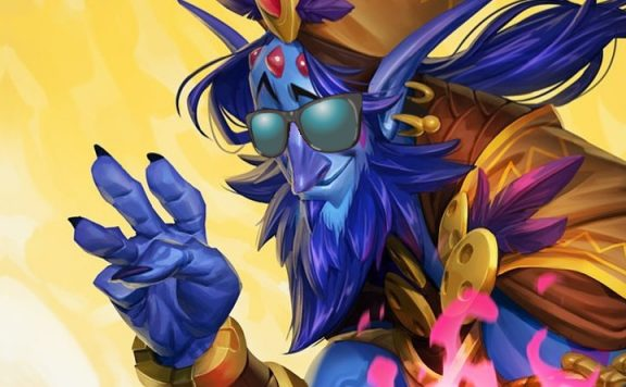 Hearthstone Zephrys title sun glasses 1140×445