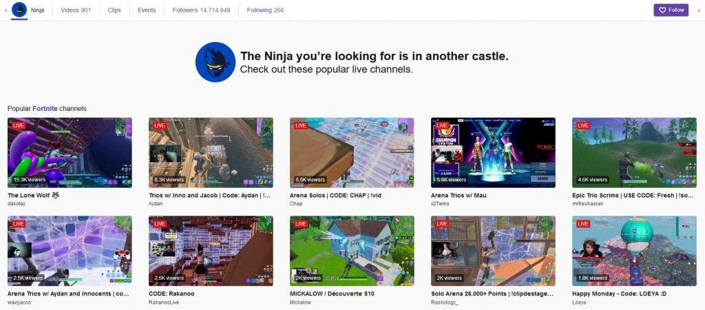 Ninja Stream Twitch