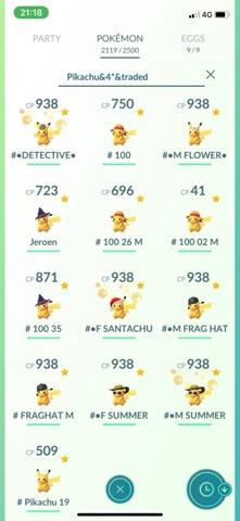 Pikachu getauscht