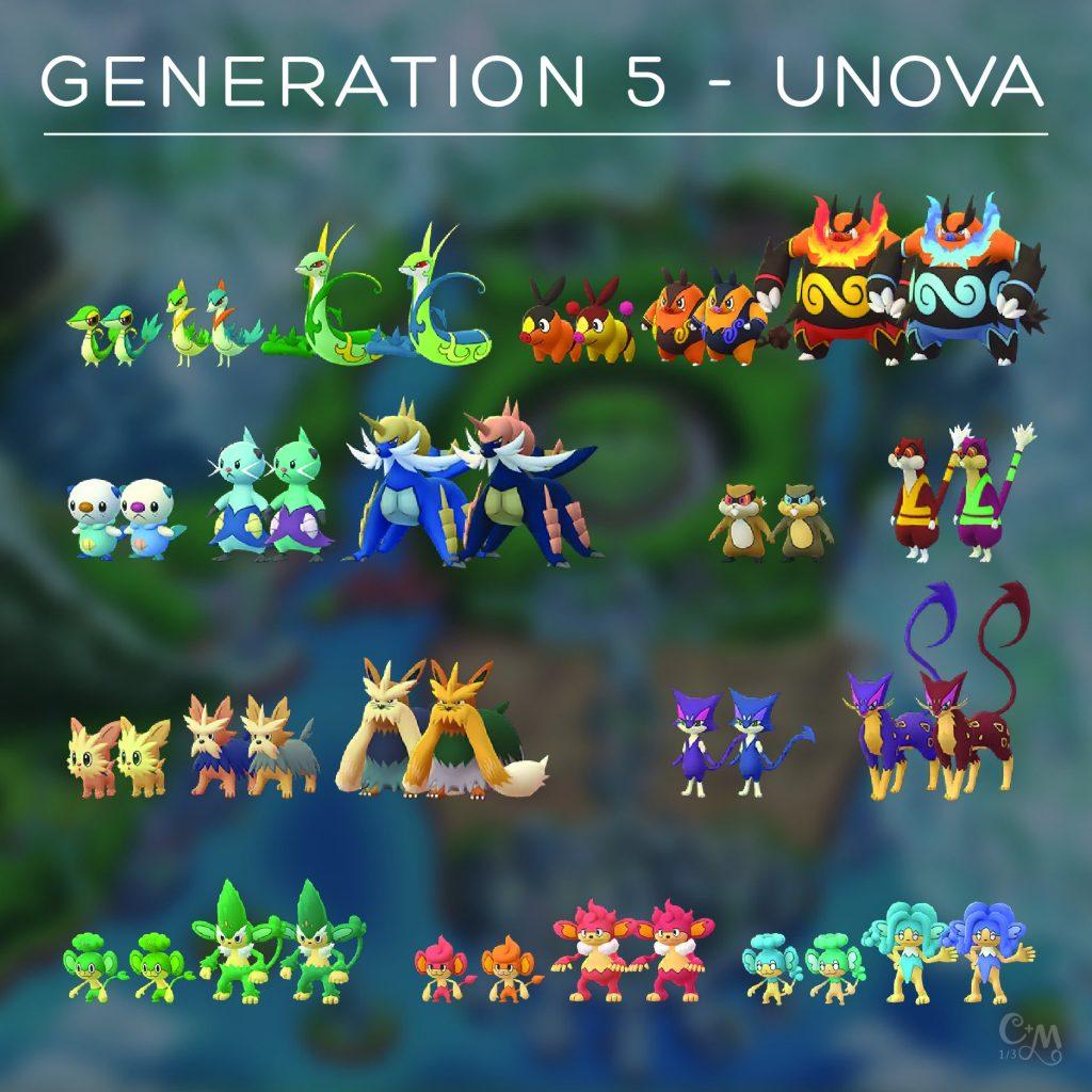 Pokémon GO Gen 5 Sprites Chrales