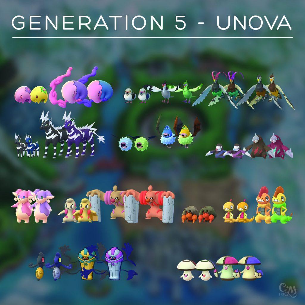 Pokémon GO Gen 5 Sprites Chrales 2