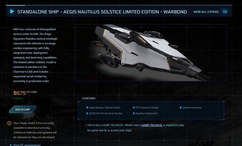 Aegis Nautilus Star Citizen