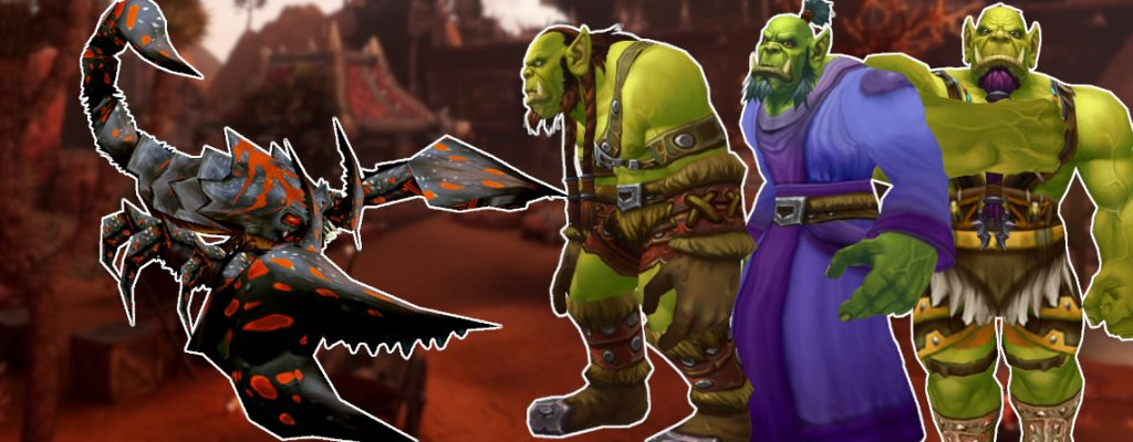 WoW Orcs in line scorpid title 1140x445