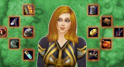 WoW Professions Female Mage glancing title 1140×445