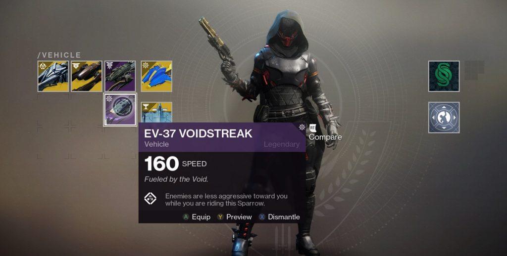 Destiny 2 Sparrow Voidstreak