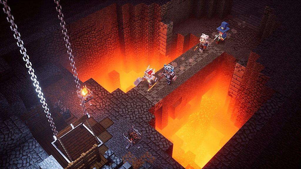 Minecraft Dungeons lava brücke