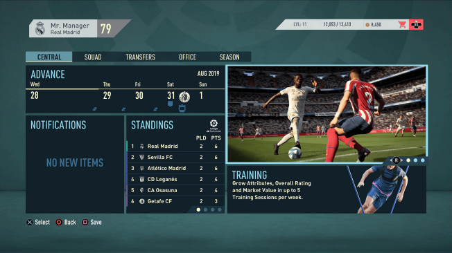 fifa 20 karriere screenshot