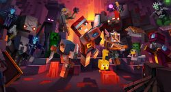 minecraft dungeons familien game header