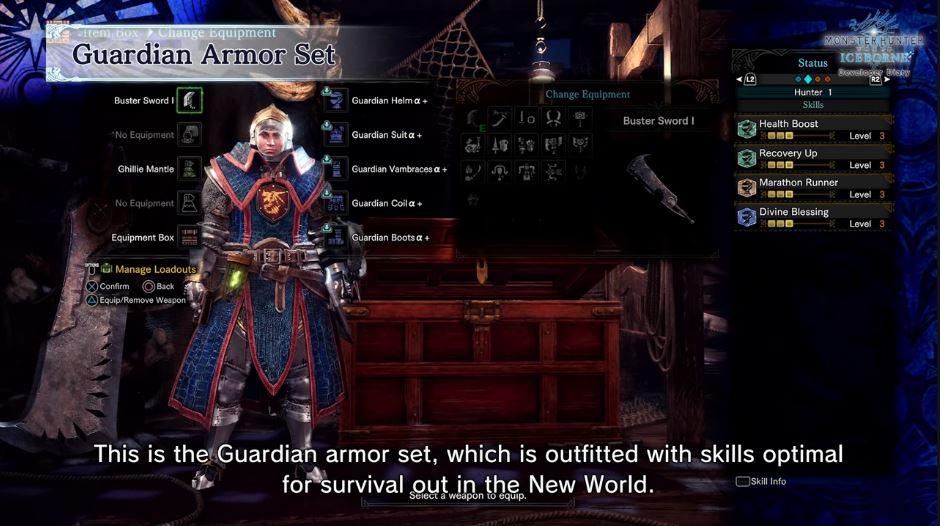 Monster Hunter World Guardian Armor Rüstung Skills