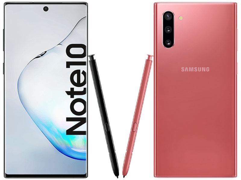 Samsung Galaxy Note 10 auch in verschiedenen Farben erhältlich.
