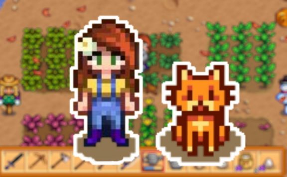 Stardew Valley Farm Katze