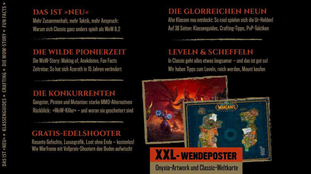 Inhalt des WoW Classic Sonderheft der GameStar
