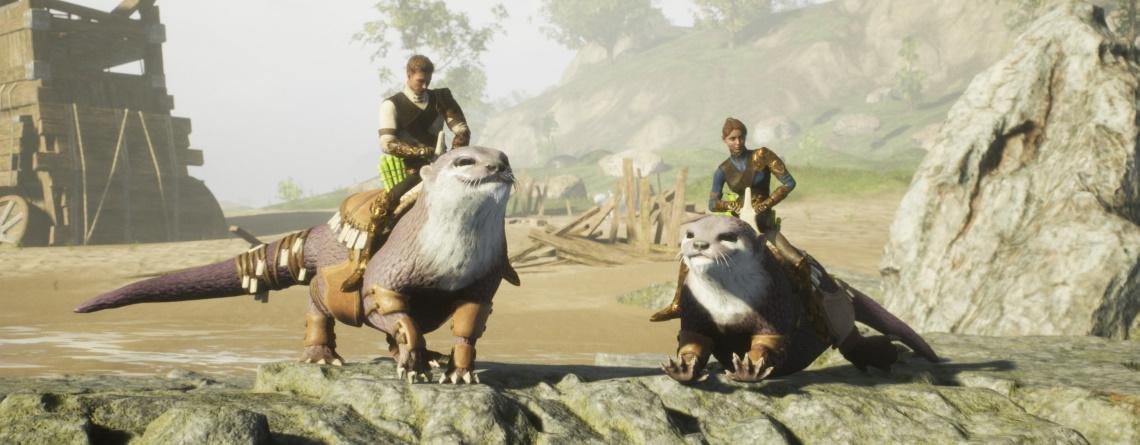 MMORPG Ashes of Creation zeigt Riesen-Otter und jetzt wollen alle darauf reiten