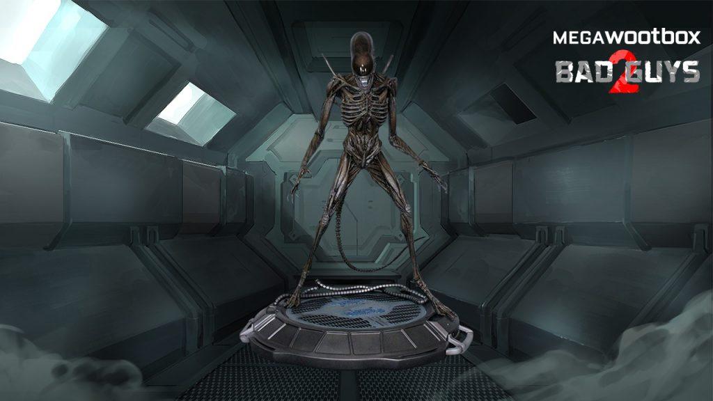 Alien Statue in der Megawootbox Bad Guys 2