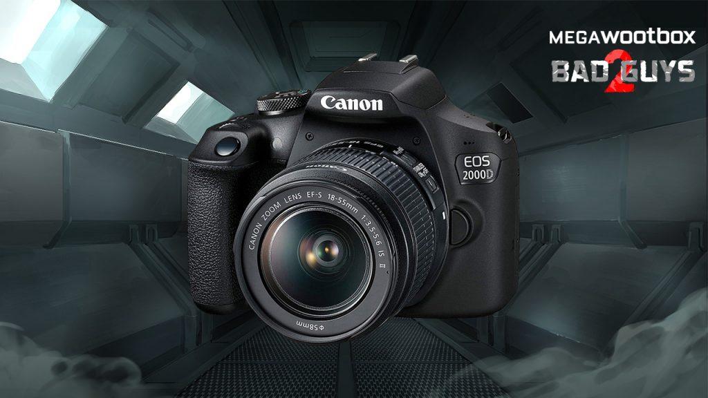 Canon Kamera in der Megawootbox Bad Guys 2