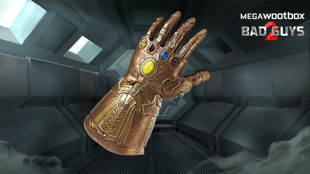 Infinity Gauntlet in der Megawootbox Bad Guys 2