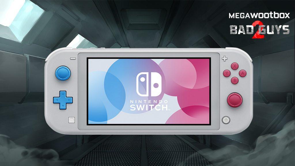Nintendo Switch Lite in der Megawootbox Bad Guys 2