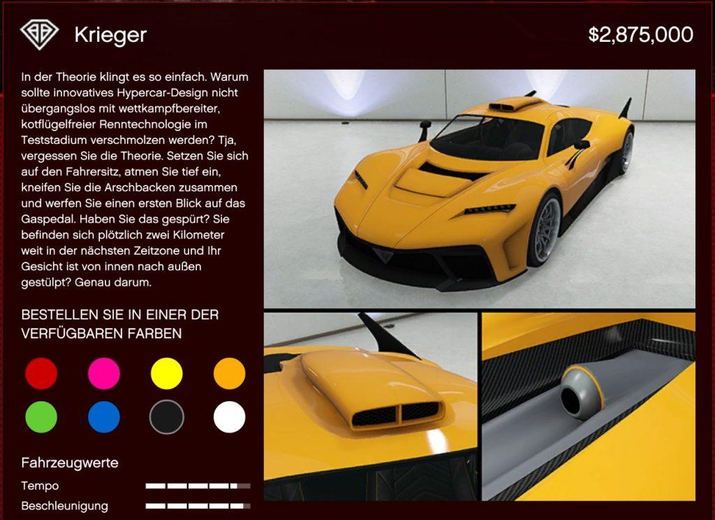 GTA Online Benefactor Krieger