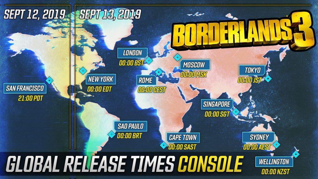 Borderlands 3 Release-Uhrzeit für PS4 und Xbox One