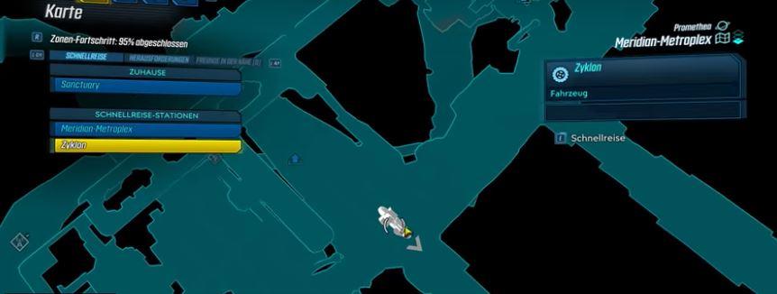 Map Schnellreise Borderlands 3