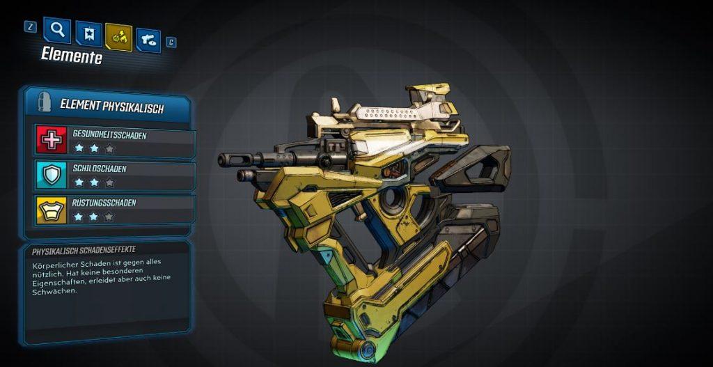 Borderlands 3 Waffen mit Elementarschaden