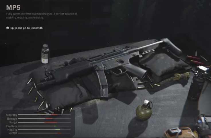 Call of Duty Modern Warfare MP5