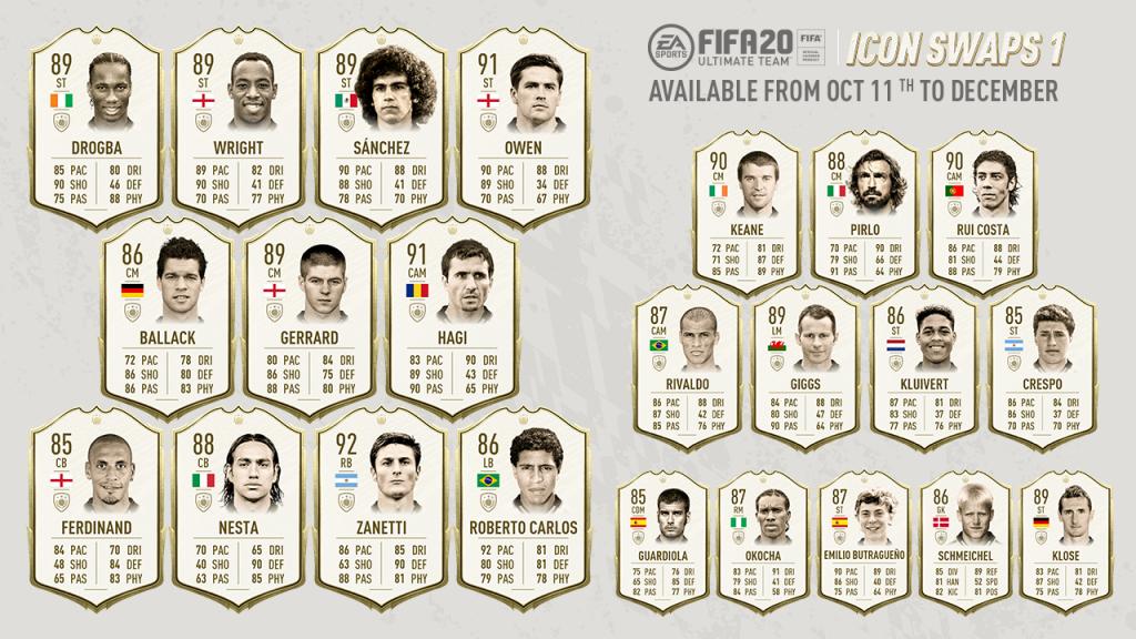 FIFA 20 Icon Swaps alle Legenden