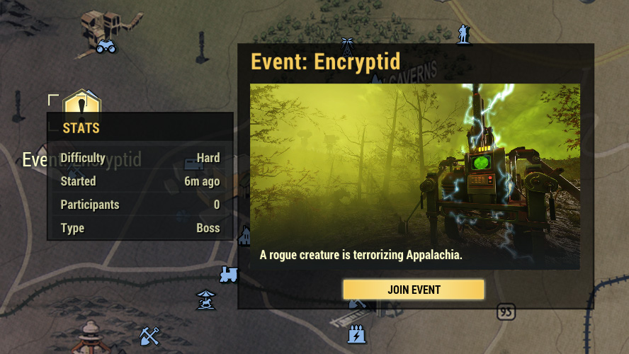 Fallout 76 öffentliche Events