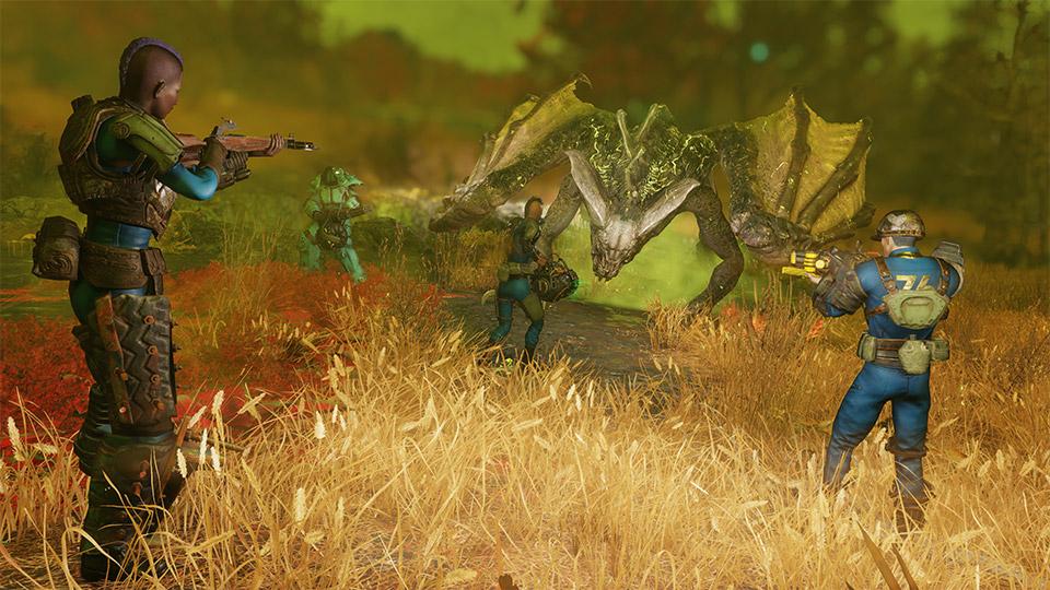 Fallout 76 Spieler töten Brandbestien