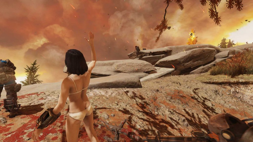 Fallout 76 nackter Typ erkundet Morgantown