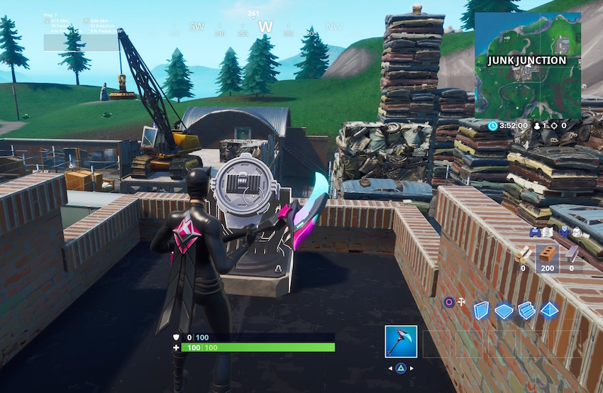 Fortnite Bat-Signal Junk Junction