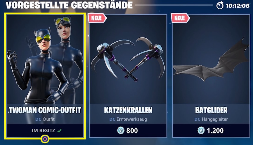 Fortnite Catwoman Item-Shop