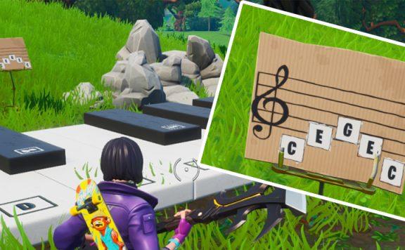 Fortnite Klavier Spielen Titel
