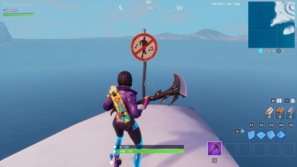 Fortnite Polar Peak Tanzen Verboten Schild 3