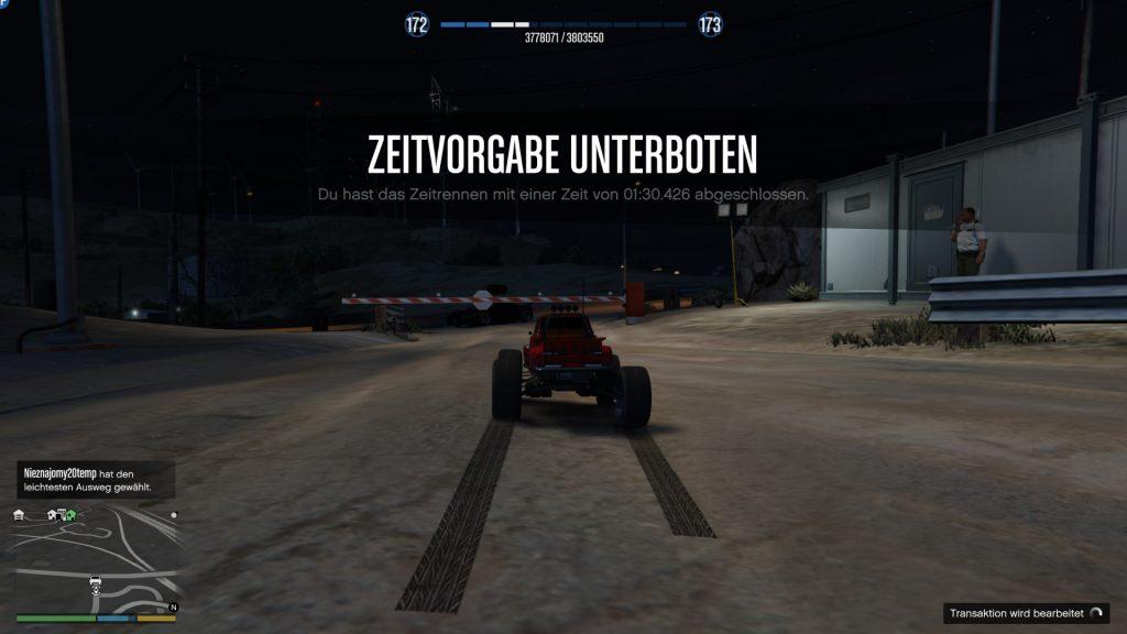 GTA Online Zeitrennen Quartz Sieg