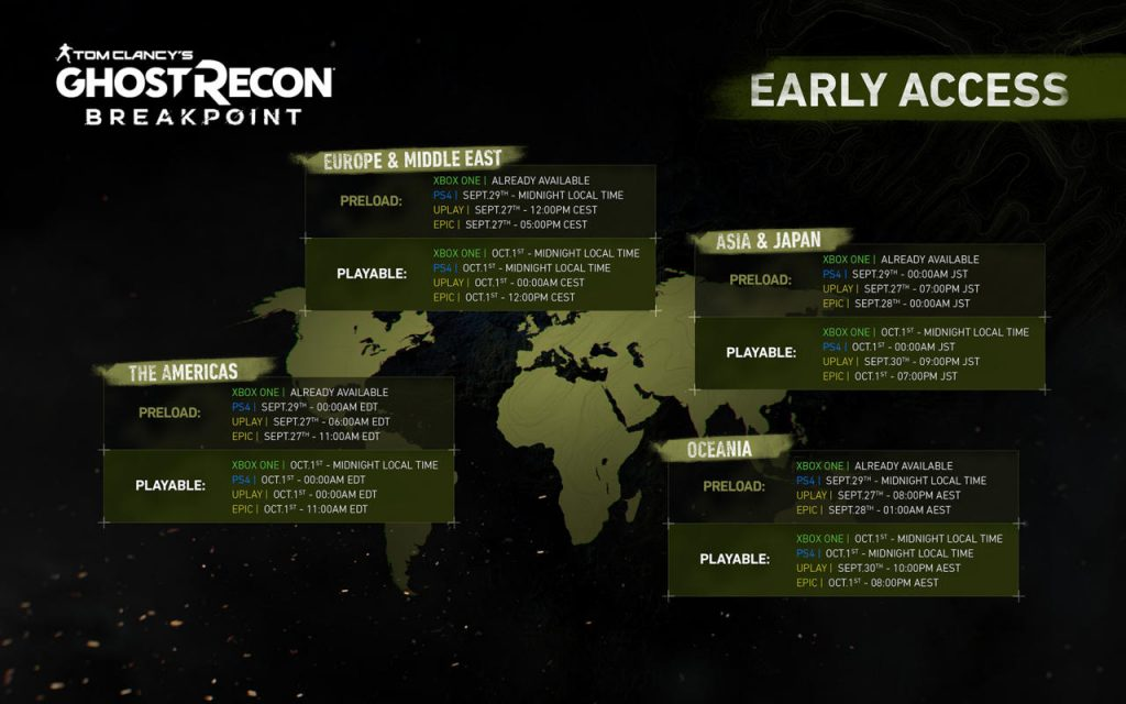 Ghost-Recon-preload early access
