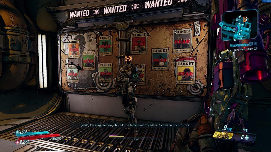Zer0 Borderlands 3 Crew-Herausforderung Gelegenheitsziele