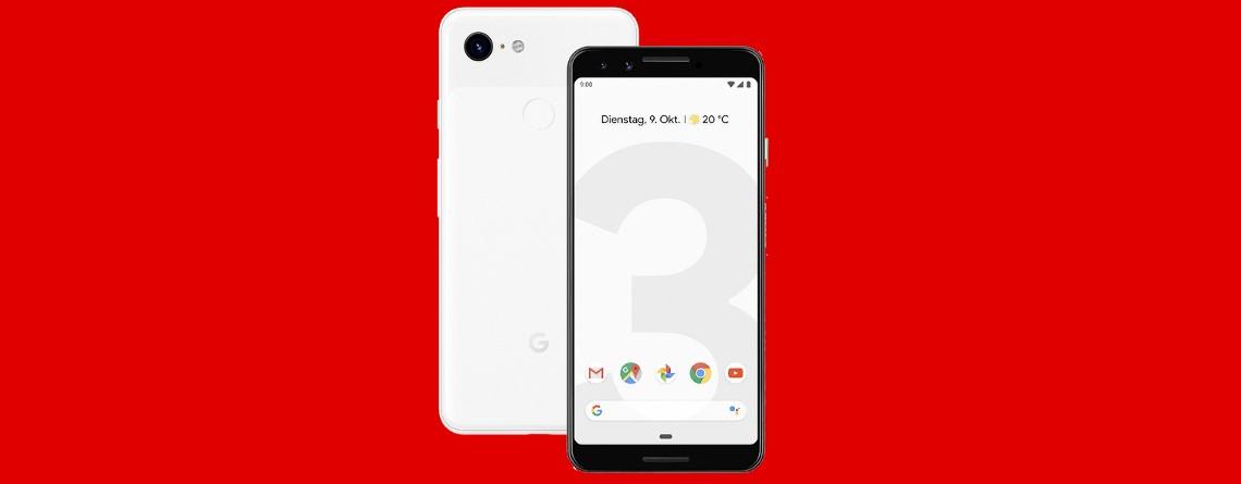 Googles Top-Smartphone Pixel 3 mit Tarif günstig zu haben