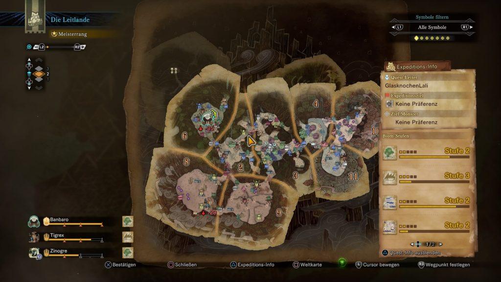 Monster Hunter World Iceborne Leitlande Map