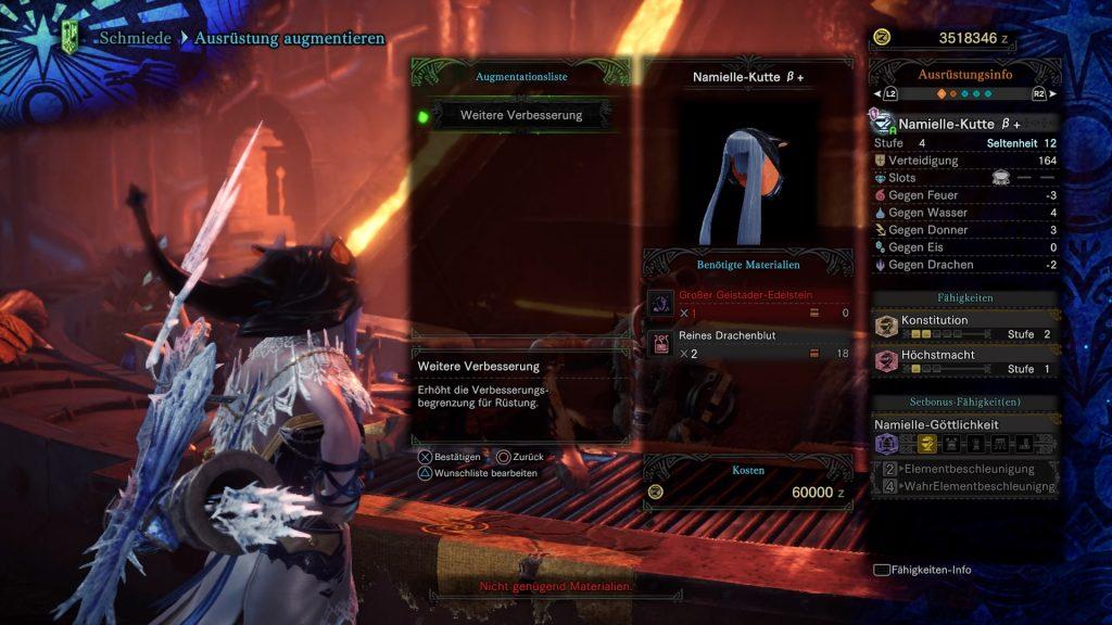 Monster Hunter World Iceborne Helm Rüstung augmentieren