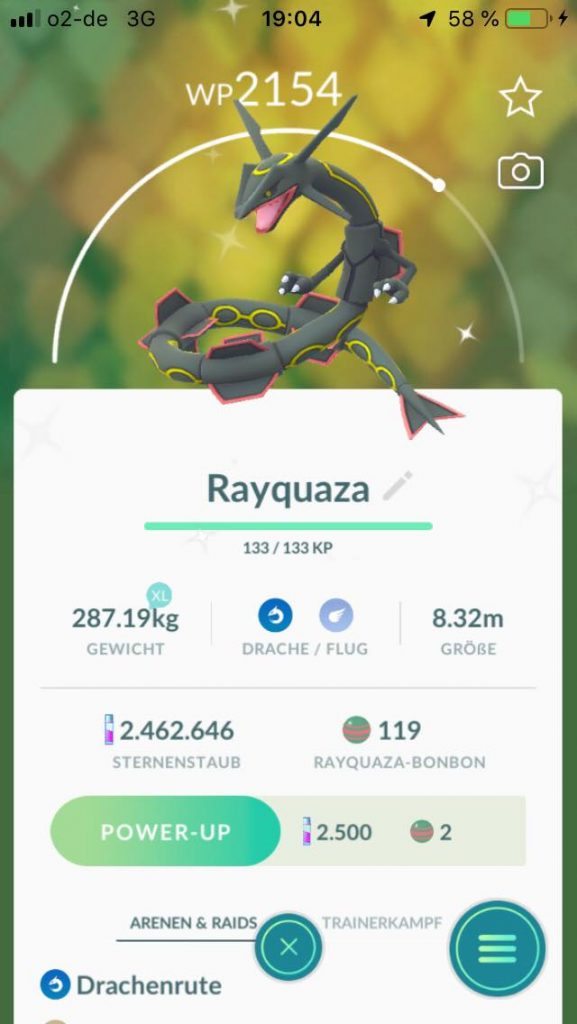 Pokémon GO Shiny Rayquaza