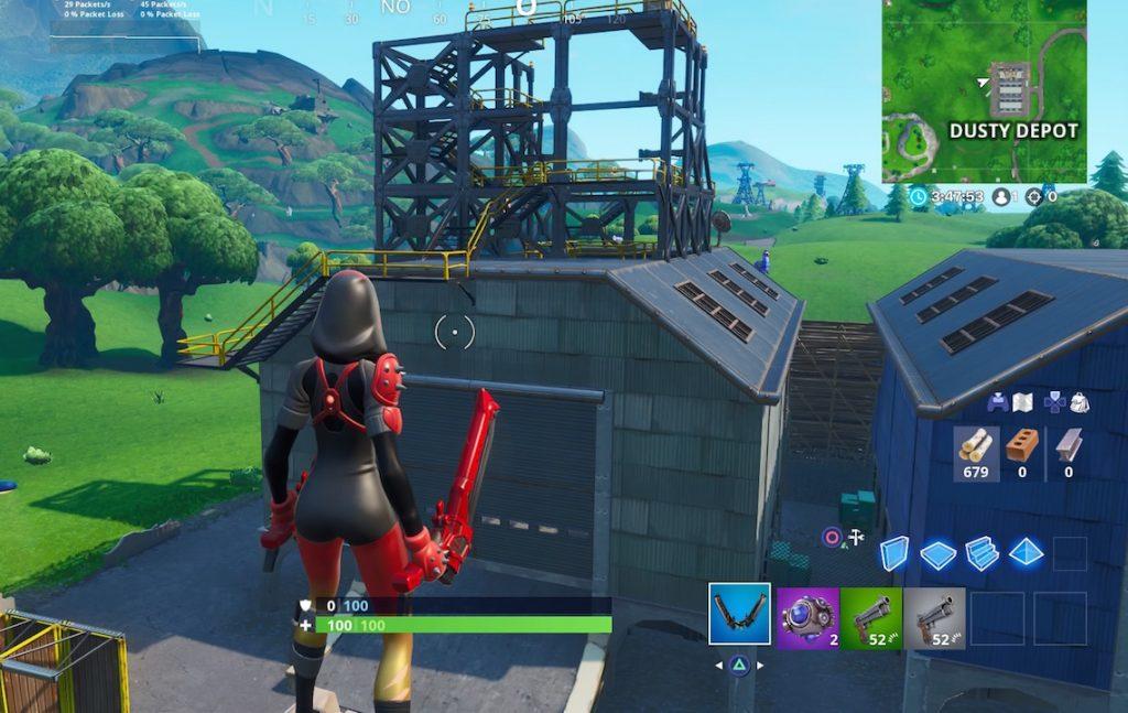 Fortnite Rakete Dusty Depot