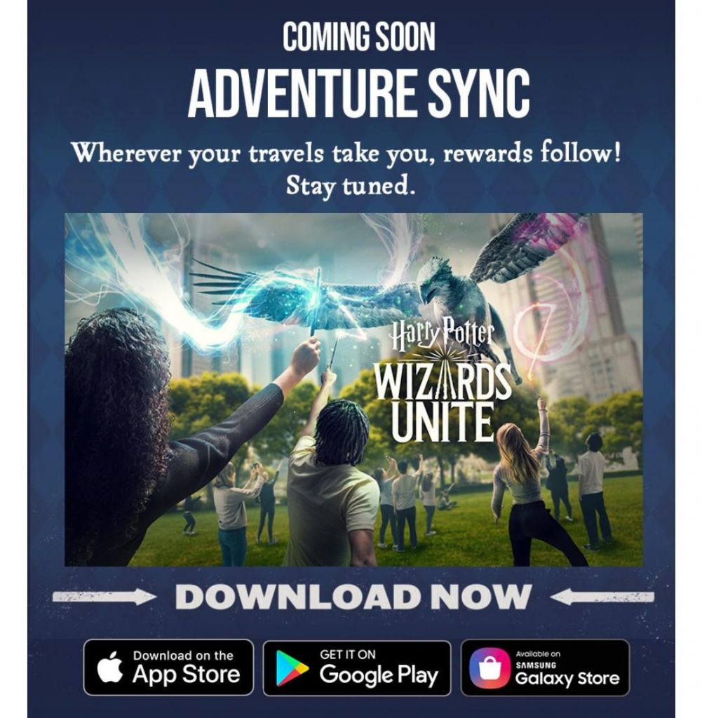 Wizards Unite Adventure Sync Mail