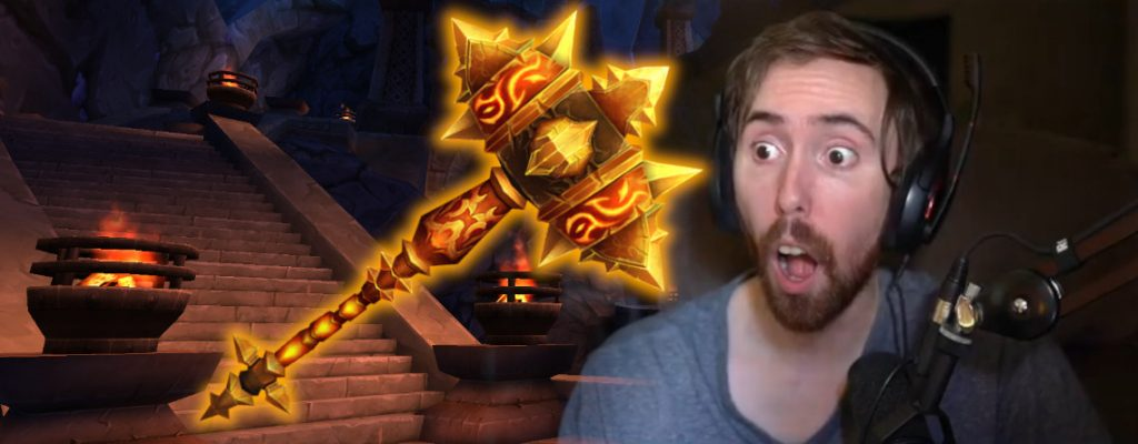 WoW Asmongold Hand of Ragnaros title 1140x445