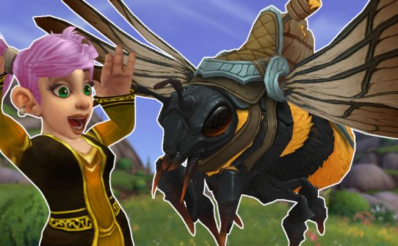 WoW Bee Mount Happy title 1140×445