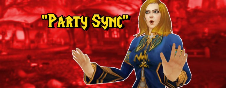WoW Party Sync title 1140×445