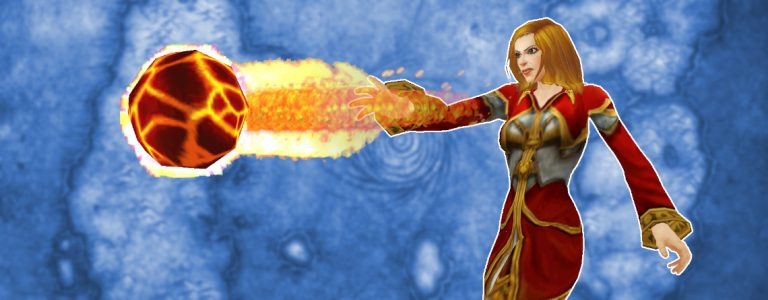 WoW Pyroblast female mage title 1140×445