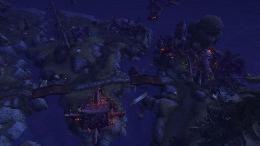 World of Warcraft zerstörtes Auberdine